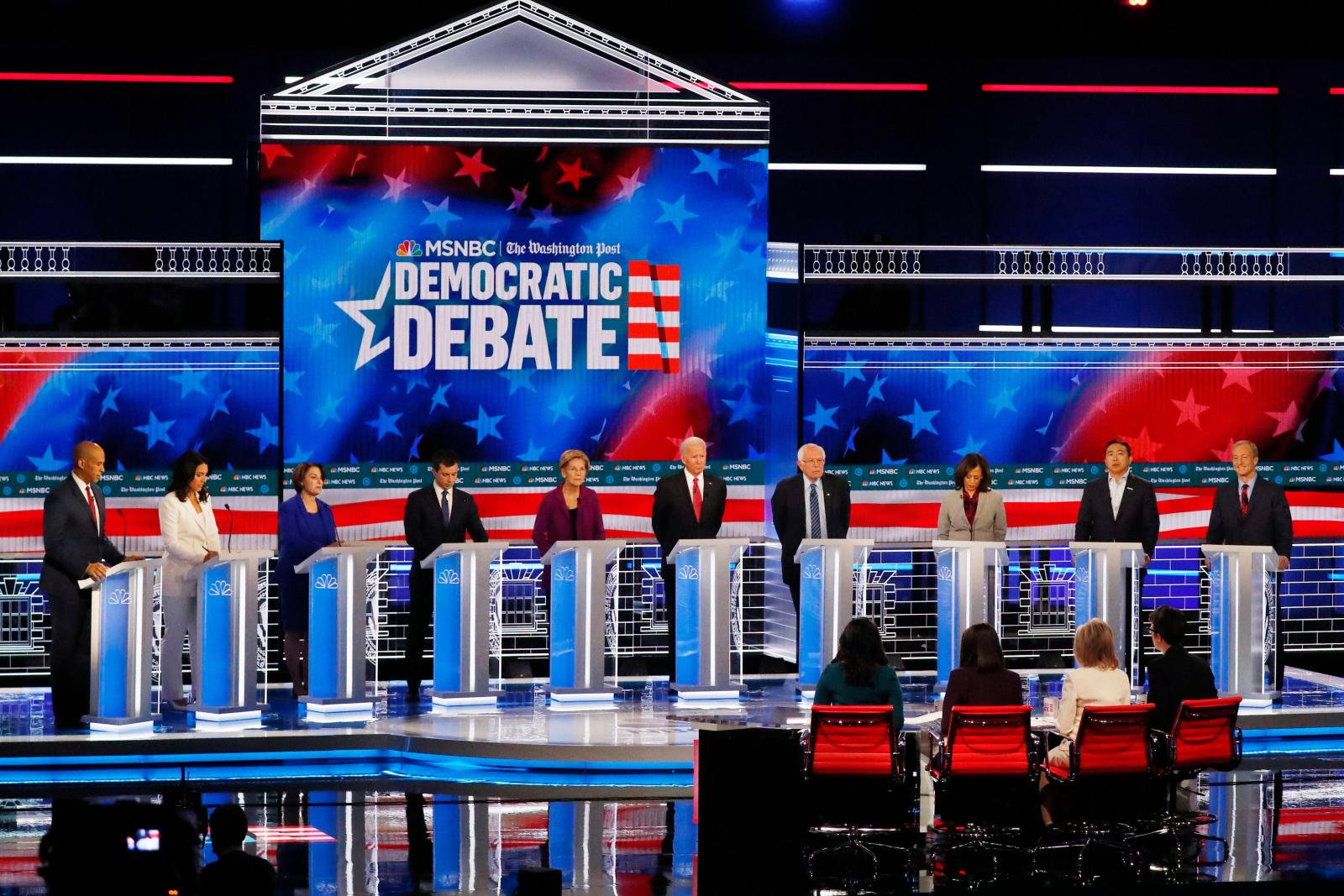 How long each candidate has talked at tonight's debate